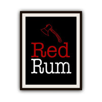 The Shining Redrum Stephen King Typography Poster