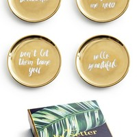 Rosanna Gold Trim Porcelain Coasters (Set of 4) | Nordstrom