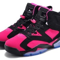 Hot Air Jordan 6 Retro Women Shoes Peach Black From China