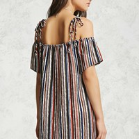 Self-Tie Open-Shoulder Dress