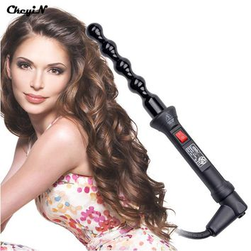 15-25mm Ceramic Bead Hair Curler Roller 110-240V 60W Hair Curling Irons Professional PTC Heating Curl Hair Style Tool with Glove