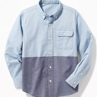 Button-Down Collar Pocket Shirt for Boys |old-navy