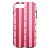 Pink Hearts iPhone 7 Plus Case