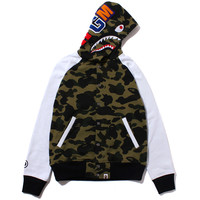 1ST CAMO SHARK SWEAT VARSITY JACKET /AP