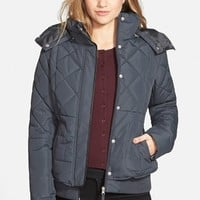 Junior Women's Maralyn & Me Quilted Puffer Coat ,