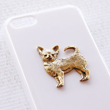 Chihuahua Apple iPhone 5C Gold and White Stylish High Gloss Smartphone Case iPhone 6 Case
