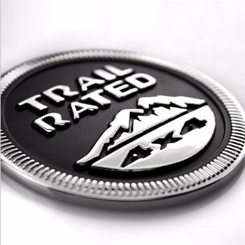 4x4 4WD Car Sticker Emblem Body Badge Trail Rated Fender Truck Auto Sticker Styling Decoration For Jeep Patriot Liberty Wrangler