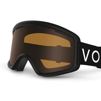VonZipper - Beefy Black Snow Goggles / Bronze Lenses