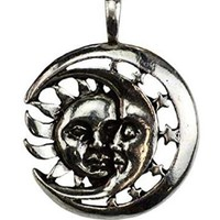 Celestial Repose Sun and Moon Amulet Necklace