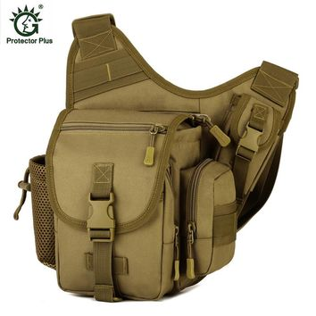 Protector Plus Waterproof Shoulder Bag Tactical Military Backpack Spot Bags Camping Outdoor Hiking Men Chest Pack D026