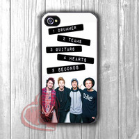 5 Seconds of Summer member with quote -Lx for iPhone 6S case, iPhone 5s case, iPhone 6 case, iPhone 4S, Samsung S6 Edge