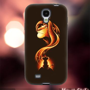 MC1002Z,4,lion king,simba,hakuna matata -Accessories case cellphone-Design for Samsung Galaxy S5 - Black case - Material Soft Rubber