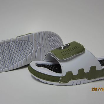 Nike Jordan Hydro IX White/Green Sandals Slipper Shoes Size US 7-13-1