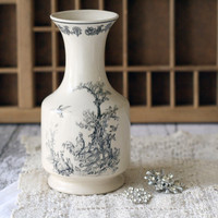$28.00 Vintage French Style Stoneware Carafe or Vase  by graceandivy