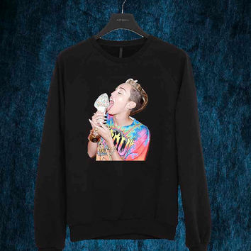 Miley Cyrus sweater Sweatshirt Crewneck Men or Women Unisex Size
