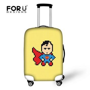 2017 Catoon Supermen Printed Travel Box Covers,Dust-proof Lovely Journey Trunk Bags, Stretchable Bagage Couverture  for18-30inch