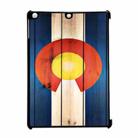 Colorado State Flag Wood Design iPad Air Case