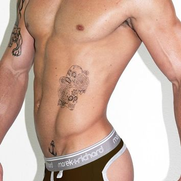 Core Open Back Brief-Brown