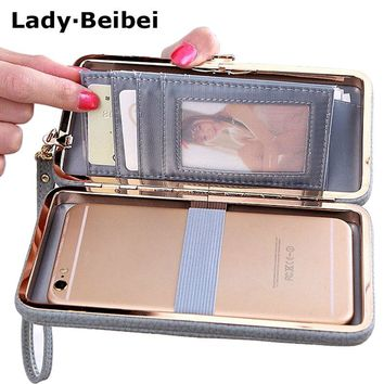 Lady Beibei Leather Long Women box Wallet ,Card Holders phone Cases box, bowknot design candy color evening bag Lady's clutch