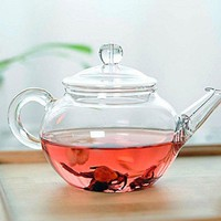 250ml Heat Resistant Clear Glass Teapot With Infuser Coffee Tea Leaf Herbal Pot 947687162884
