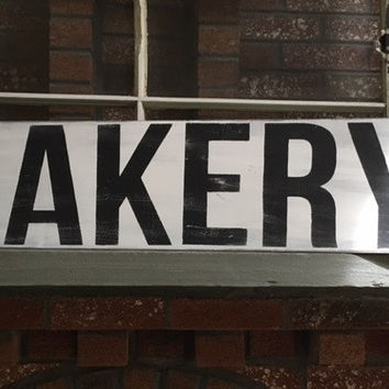 Bakery Extra-Large Wooden Sign