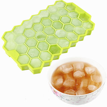 DIY Ice Cream Tools Silicone Honeycomb Ice Cream Maker Ice Cube Tray