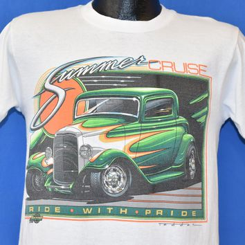80s Summer Cruise Ride with Pride Hot Rod t-shirt Small