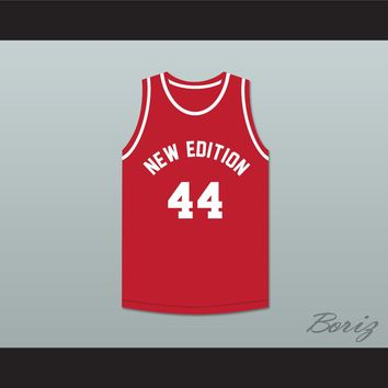 Bobby Brown 44 New Edition Red Basketball Jersey