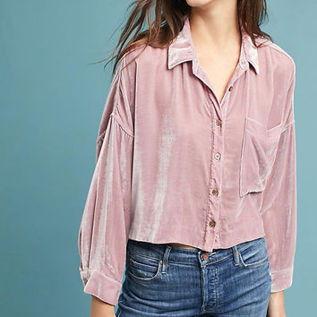 Mara Hoffman Velvet Buttondown