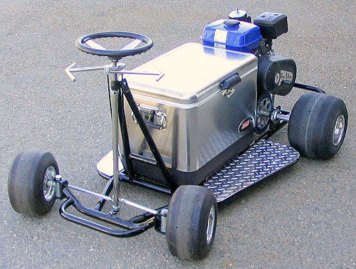 Cooler croozer cooler cruiser the from crazy for Motor cooler on wheels