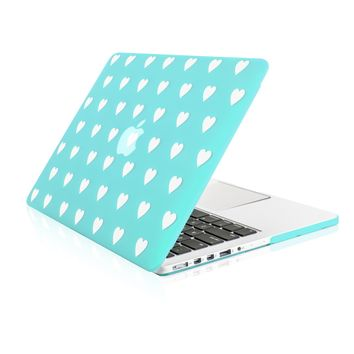 """Hot Blue Heart Shape Design Ultra Slim Light Weight  Hard Case Cover for Apple MacBook Pro 13.3"""" with Retina Display Model: A1425 and A1502"""