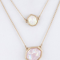 DEAL OF THE DAY:  50% off Mother of Pearl Layered Necklace