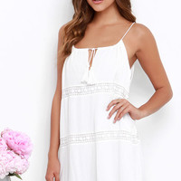 Early Riser Ivory Lace Shift Dress