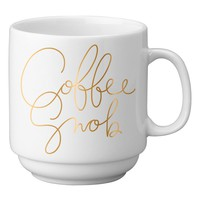 Easy, Tiger 'Coffee Snob' Stackable Porcelain Mug | Nordstrom