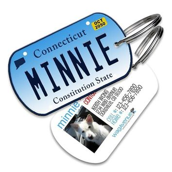Connecticut License Plate Pet Tag