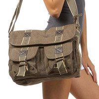 Green Classic Army Messenger Heavy Weight Shoulder Bag