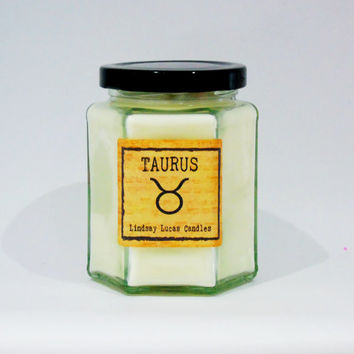 Taurus Candle, Zodiac Candle, Gift For Taurus, Horoscope Candle,  Taurus star sign, Star Sign Candle, Horoscope Gift