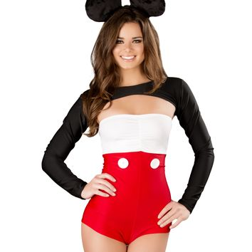 Minnie Mouse Romper with Shrug & Ears Costume