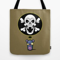 Silently Homicidal Tote Bag by Artistic Dyslexia | Society6