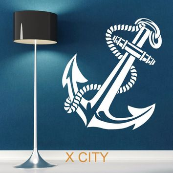 ANCHOR RETRO VINTAGE TATTOO SHIPS Creative Wall Sticker Vinyl Art Window Decal Stencil Room Decor Adesivo De Parede S M L