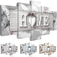 Unframed 5 Panels Wall Art of Home Painting Pictures Print on Canvas The Picture for The Home Modern Decoration