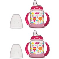 NUK 5-oz Learner Cups, Silicone Spout, Set of 2, Girl Design, BPA-Free - Walmart.com
