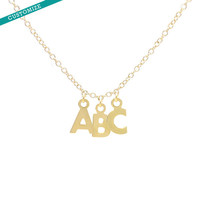 Custom 3 Letter Initial Necklace