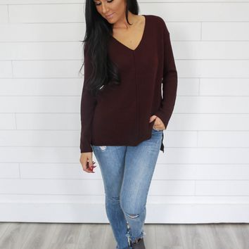 Nothing Better Sweater - Merlot