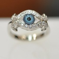 Evil Eye Ring & Cubic Zirconia Evil Eye Ring
