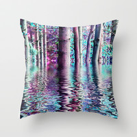 PEACE TREE-TY Throw Pillow by catspaws