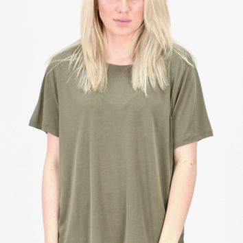 Short Sleeve Basic Modal Tee {Olive}