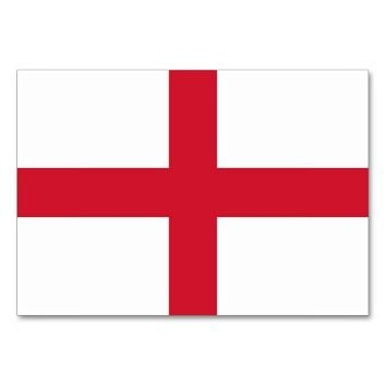 Patriotic table card with Flag of England
