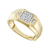 Diamond Fashion Mens Ring in 10k Gold 0.25 ctw