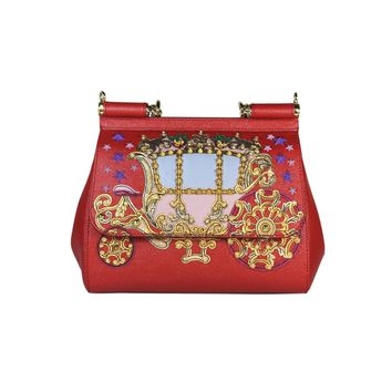 Dolce & Gabbana Red Coach Embroidery